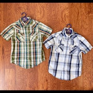 Arizona Boys button down shirts bundle of 2 size 6